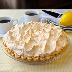 The Very Best Homemade Lemon Meringue Pie - Rock Recipes - Rock Recipes If your pie comes from powder in a box, STOP! A fantastic homemade lemon meringue pie, made completely from scratch, tastes much better and is actually just as easy to prepare. Lemon Desserts, Lemon Recipes, Pie Recipes, Just Desserts, Dessert Recipes, Cooking Recipes, Rock Recipes, Pie Dessert, Quiches