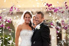 """Nothing like the moment right after the """"I Do's"""" and it was captured on cameral at this Addison Wedding"""