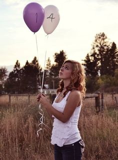 Senior picture with balloons  2014 senior picture