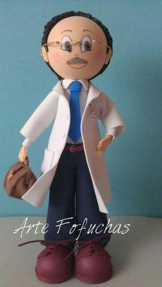 Fofucho médico personalizado. www.artefofuchas.com