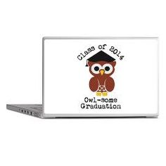 Cute Graduation Owl with mortar board Laptop Skins> Cute graduation owl with mortar board> Victory Ink Tshirts and Gifts