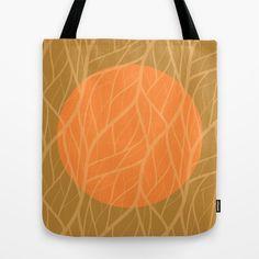 Orange & Green Jungle Moon Tote Bag #society6 #endlesssummer #tote