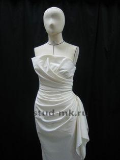 Студия Модного Кроя - Платья, блузки Draped Dress, Draped Fabric, Clothing Patterns, Dress Patterns, Draping Techniques, Pattern Draping, Fashion Details, Fashion Design, Mannequins