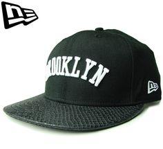 【ニューエラ】【NEW ERA】9FIFTY BROOKLYN レザーバイザー ブラックXブラック ストラップバック【CAP】【newera】【ブルックリン】【帽子】【スナップバック】【BLACK】【黒】【スネーク柄】【キャップ】【あす楽】【楽天市場】