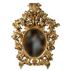 19th Century Rococo Carved Giltwood  Mirror (via @1stdibs)