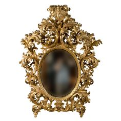 19th Century Rococo Carved Giltwood  Mirror