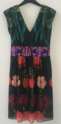 DESIGUAL Medium Floaty Dress with Floral Patterned Panels  fashion   clothing  shoes  accessories  womensclothing  dresses (ebay link) d9d3d1a9d