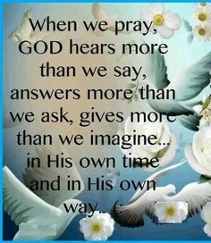 When we pray ...