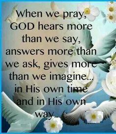When we pray ...