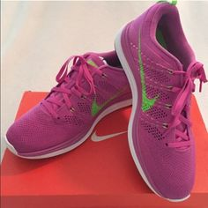 🎀SOLD🎀 NIKE FLYKNIT LUNAR 1 PINK RUNNING SHOES Womens NIKE FLYKNIT LUNAR1   CLUB PINK ELECTRIC GREEN RUNNING SHOES   BRAND NEW IN BOX!! Nike Shoes Athletic Shoes