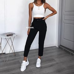 118 trendy summer outfits copy right now page 22 Simple Fall Outfits, Trendy Summer Outfits, Cute Comfy Outfits, Girly Outfits, Outfits For Teens, Sport Outfits, Cool Outfits, Fashion Mode, Fashion Outfits