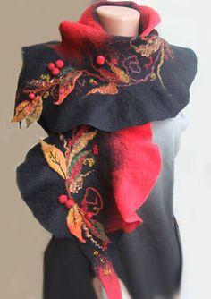 Фотография Nuno Felting, Needle Felting, Winter Outfits, Cool Outfits, Fashion Art, Fashion Outfits, Creative Embroidery, Felting Tutorials, Felt Fabric