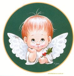 Angelitos Ruth Morehead Christmas Clipart, Vintage Christmas Cards, Christmas Baby, Christmas Pictures, Christmas Angels, Pix Art, Christmas Drawing, Christmas Illustration, Angel Art