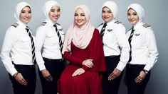 """52 Likes, 4 Comments - Top of Her Game (@topofhergame) on Instagram: """"AirAsia female pilots get specially designed #hijab as part of uniform #hijabiwomen…"""""""