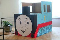 Turn a cardboard box into a thomas the train!!!