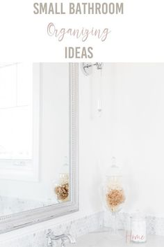 Small bathrooms can be impossible to keep clean when you have zero storage.  In this post, I'm going to share 13 ideas that will help you organize your small bathroom.  I recently remodeled our small bathroom and creating storage was the top thing on my list!
