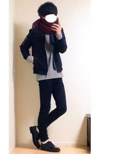 とっしーさんの「【ミリタリーをシャープに】TR MA-1ブルゾン(JUNRed)」を使ったコーディネート B Fashion, Asian Fashion, Timeless Fashion, Fashion Shoes, Street Style Boy, Tokyo Street Style, Autumn Clothes, Androgynous Fashion, Korean Men