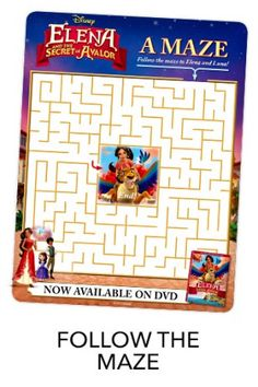Elena of Avalor: Celebrations to Remember Coming to DVD Printable Maze