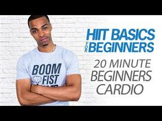 20 Minute Beginners Cardio Workout - Easy At Home Beginner HIIT Cardio Exercises for Weight Loss - YouTube