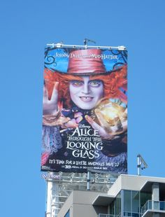 Disney Alice through the Looking Glass Mad Hatter billboard