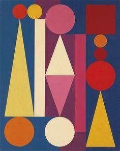 Auguste Herbin, DIMANCHE I, 1950