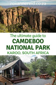 Famous for the Valley of Desolation, Camdeboo National Park surrounds the Karoo town of Graaff-Reinet. Here's the ultimate guide. Tent Camping, Camping Hacks, Kruger National Park, National Parks, All About Africa, Africa Destinations, Picnic Area, African Safari, Africa Travel
