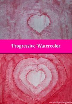 Progressive watercolor technique heart!