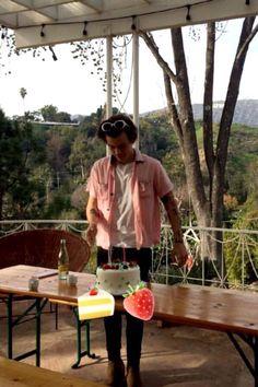 Harry Styles on his Birthday #Harry #Styles #OneDirection #Malibu #California #23 #February #Candid #Stylish