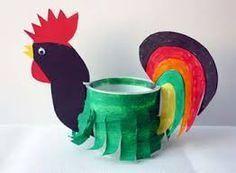 Bildergebnis für osternest basteln Rooster, Create, Animals, Hahn, Cooking, Party, Daycare Ideas, Chickens And Roosters, Yogurt Cups