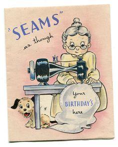 SEWING BIRTHDAY CARD