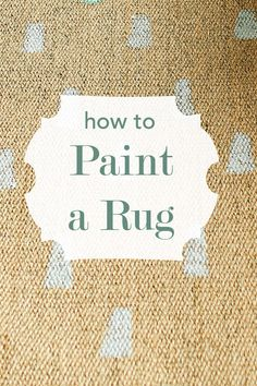 Ikea Hack. Take a neutral rug from Ikea and add a little paint to create a new look!