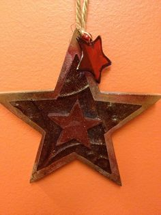 """""""Free Shipping""""  Vintage Inspired hand embellished Patriotic Star Ornament by HaileyHarrison via Etsy ... $5.99"""