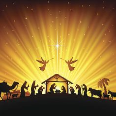 View top-quality illustrations of Christmas Nativity Scene. Find premium, high-resolution illustrative art at Getty Images. Diy Nativity, Christmas Nativity Scene, Nativity Silhouette, Christmas Program, Christian Christmas, Christmas Drawing, Holy Night, Christmas Background, Vintage Christmas Cards