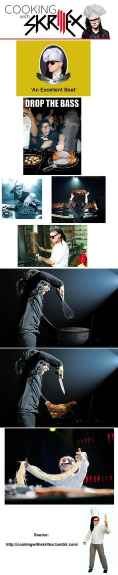 Cooking with Skrillex pics