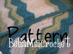 Pattern // Soft Waves baby Blanket Crochet Pattern. $3,00, via Etsy.