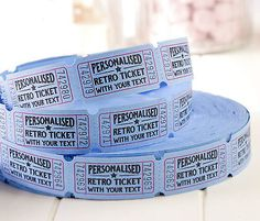 Personalised retro tickets - #wedding birthday baby #shower #carnival drink circu,  View more on the LINK: 	http://www.zeppy.io/product/gb/2/261888167456/