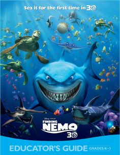 Finding Nemo 3D Educator's Guide  Download {zip file download}  This Educator's Guide includes over 60 pages of lessons and activities for grades K-3. The ocean-themed lessons are aligned to National Standards and include ready-to-go PowerPoint presentations.