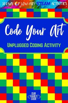 Introduce algorithms with this hands-on unplugged coding activity for kids! This activity takes programming and makes it tangible for young kids! Steam Activities, Kids Learning Activities, Teaching Kids, Stem Teaching, Kids Computer, Computer Coding, Computer Science, Computer Class, Computational Thinking