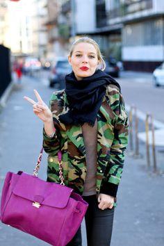 Camouflage jacket via The Fashion Fruit