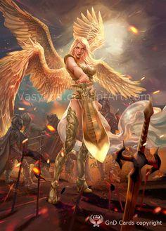 angel warrior by Vasylina on DeviantArt Fantasy Girl, Fantasy Female Warrior, Angel Warrior, Dark Fantasy, Akali League Of Legends, Angel Artwork, Ange Demon, Fantasy Kunst, Angels And Demons
