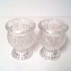 Fostoria Clear Glass Set of Two Dessert Cups Vintage Serving Glassware by VintageByRobin on Etsy