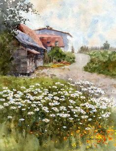 "https://www.facebook.com/MiaFeigelson ""Early summer in Tokachi"" (2014) By Kiyoharu Narazaki, from Fukuoka-shi, Japan - watercolor - Place of creation: Obihiro, Hokkaido, Japan https://www.facebook.com/kiyoharu.narazaki"