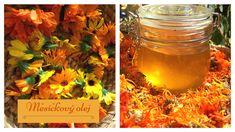 Měsíčkový olej Mason Jars, Health, Health Care, Mason Jar, Glass Jars, Jars, Salud