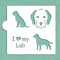I Love My Lab Cookie and Craft Stencil CM016 by Designer Stencils *** You can get more details by clicking on the image.