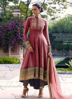 Fantastic Maroon Khadi Stone Work Jacquard bottom Heavy Work Anarkali Salwar Suit