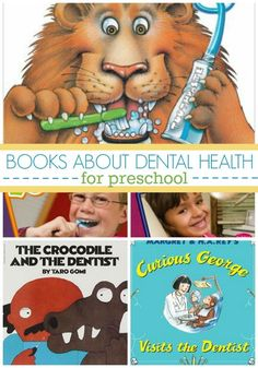 Dental Health Books for Preschool and kindergarten kids. Teach your kids about dental health and tooth brushing with these fun, age-appropriate books!
