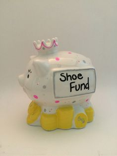 A personal favorite from my Etsy shop https://www.etsy.com/listing/386320354/shoe-fund-piggy-bank