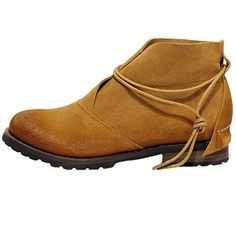 67cc11ebfb1e43 MatchLife Women s 2015 Flat Leather Boots Shoes 38 Light Brown MatchLife  http   www