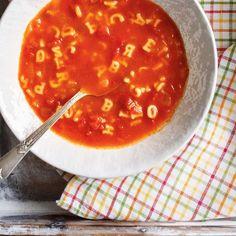 Food Alphabet, Alphabet Soup, Chowder Recipes, Soup Recipes, Cooking Recipes, Beef Tagine, Beef Chorizo, Ricardo Recipe, Vegetable Soup Healthy