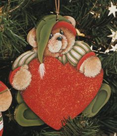 6 Sitting Teddy ornaments design by Debbie by OurPricelessTreasure